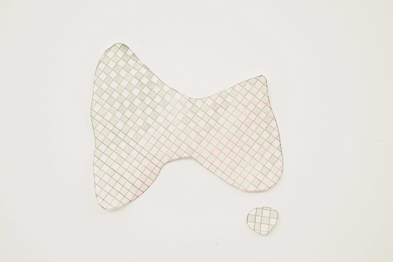 Pink Oz, 2014, Watercolour, pencil, paper, 28.0 x 26.5 cm, Unique object