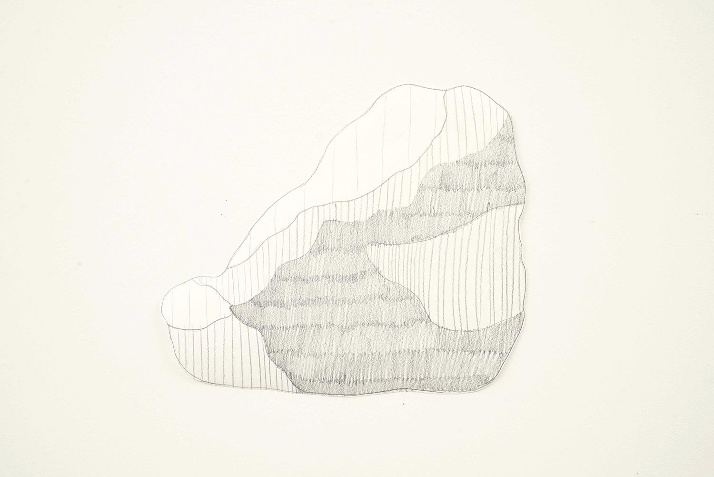 Big Rock, 2014, Pencil, paper, 28.0 x 24.0 cm, Unique object