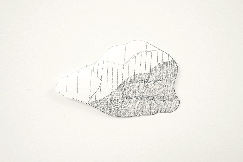 Little Rock, 2014, Pencil, paper, 13.6 x 9.0 cm, Unique object