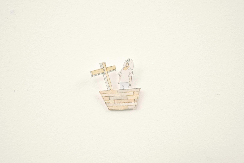 Little Ark and Ken, 2014, Watercolour, pencil, paper, 2.0 x 4.0 cm, Unique Object