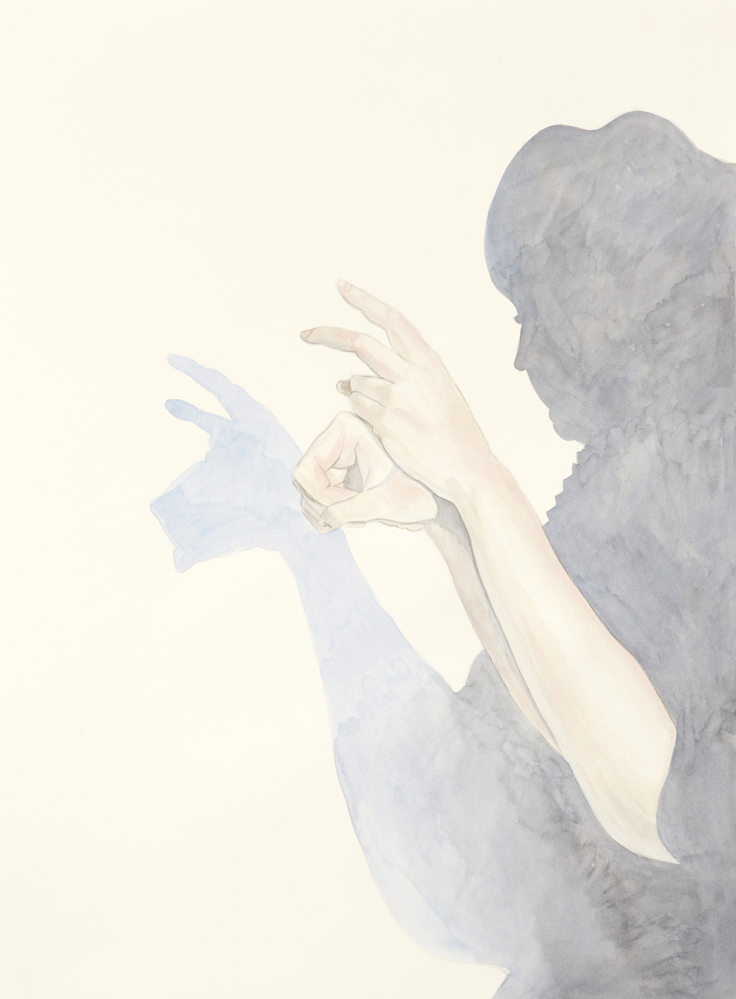 One, 2011, Watercolour on paper, 56 x 76 cm, Photo: Sam Scoufos