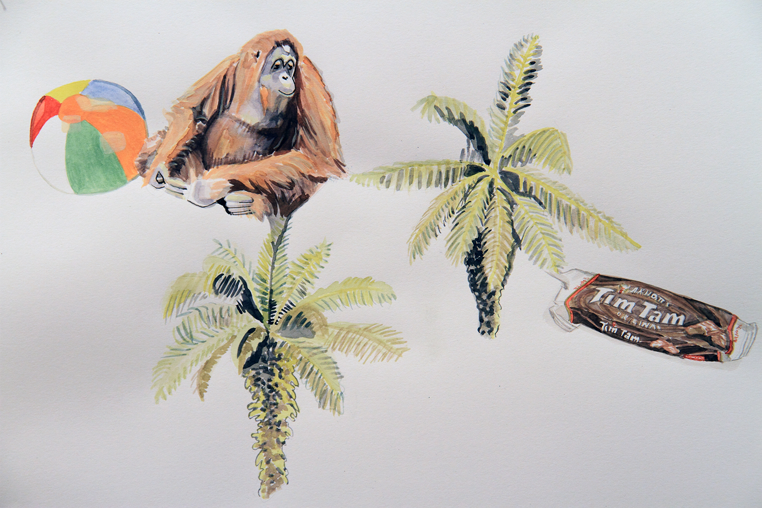 Plastic Temptation, 2010, Watercolour on paper, 29.7 x 42.0 cm, Photo: Michaela Gleave