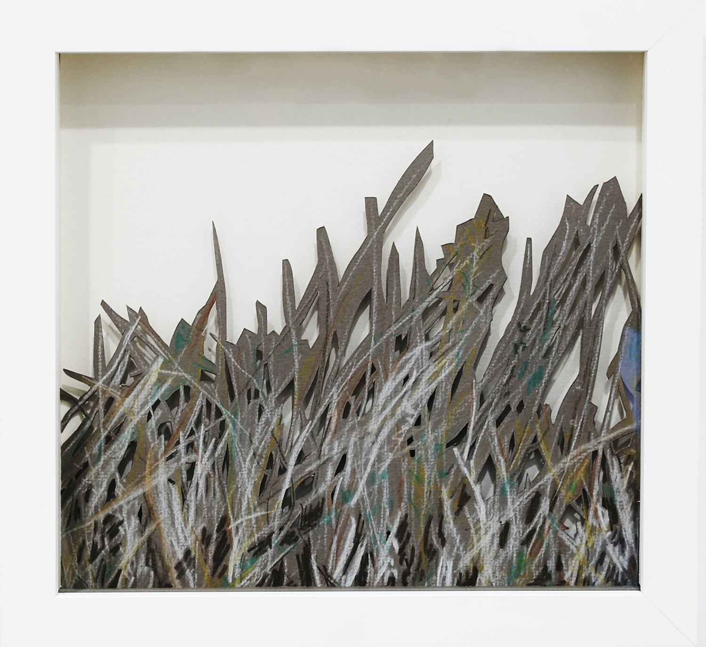 Grass, 2008, Pastel on Card, 26 x 24.4 x 3.8 cm