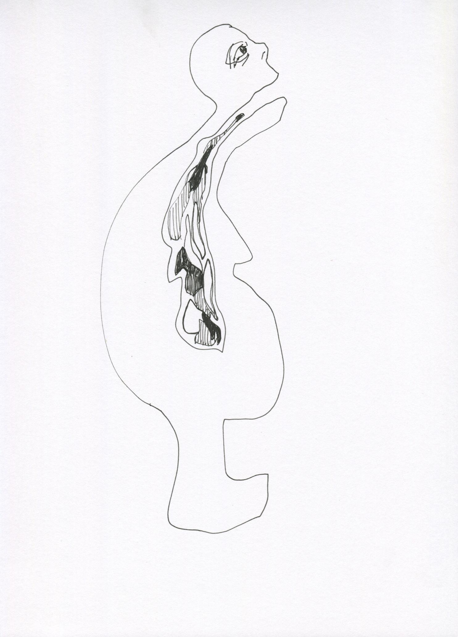 Blah from the Venus of Brisbane series, 2015, Ink on paper, 21.0 x 30.0 cm
