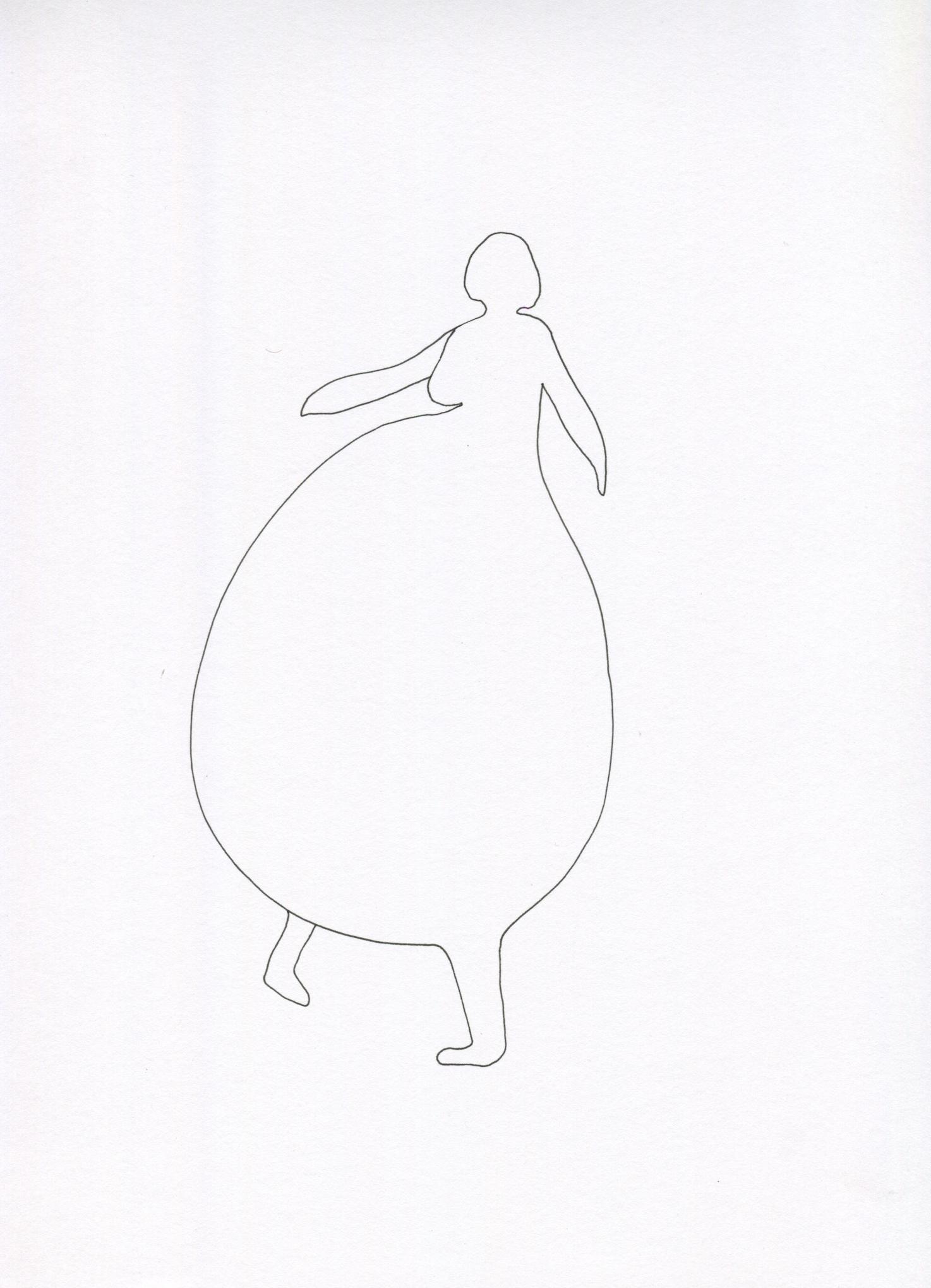 Umpa Lumpa from the Venus of Brisbane series, 2015, Ink on paper, 21.0 x 30.0 cm