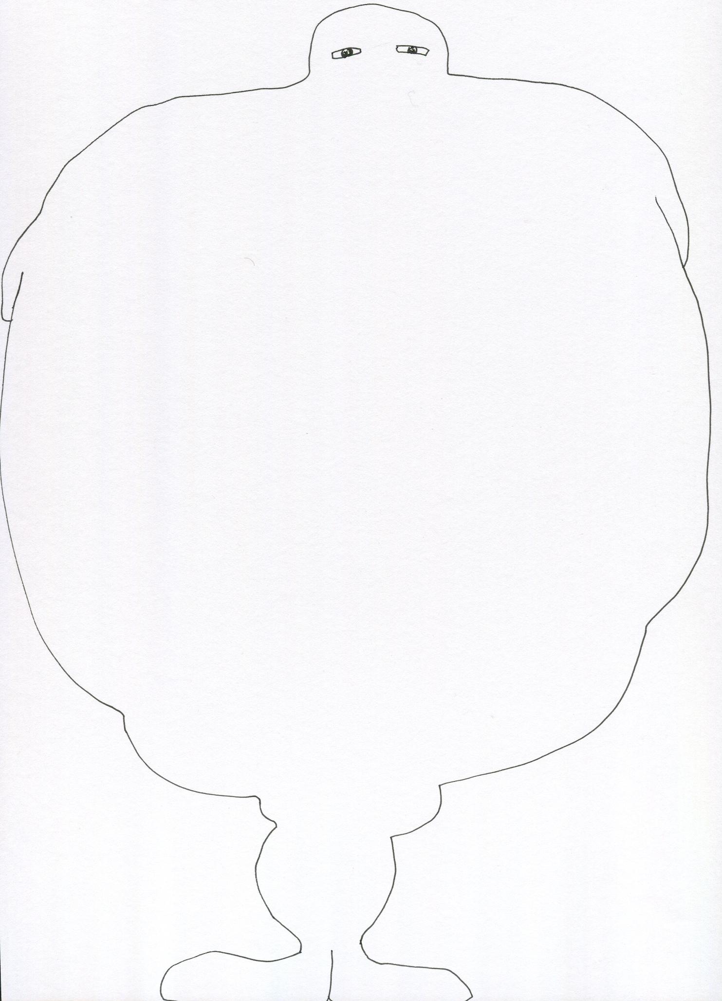 Huge from the Venus of Brisbane series, 2015, Ink on paper, 21.0 x 30.0 cm