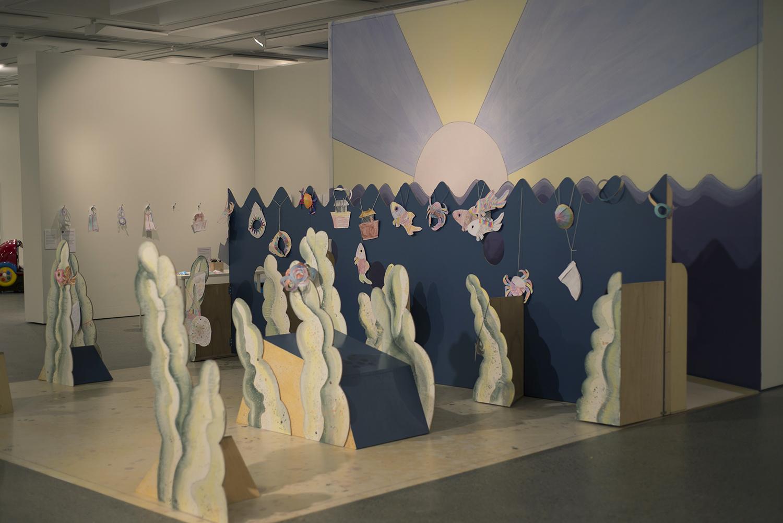 Land Down Under #7 (installation detail Hazelhurst Regional Gallery and Arts Centre), 2016, Mixed Media, Dimensions Variable, Photo: Camille Serisier