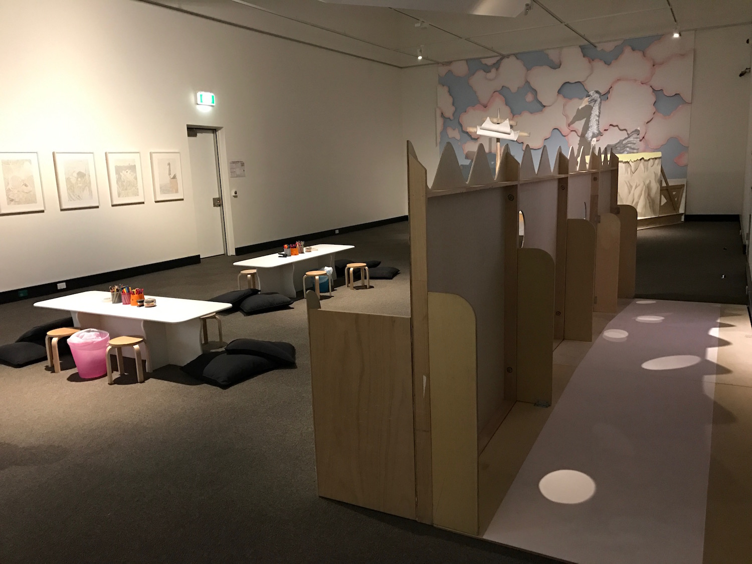 Land Down Under #7 (installation detail Redcliff City Art Gallery), 2016, Mixed Media, Dimensions Variable, Photo: Camille Serisier