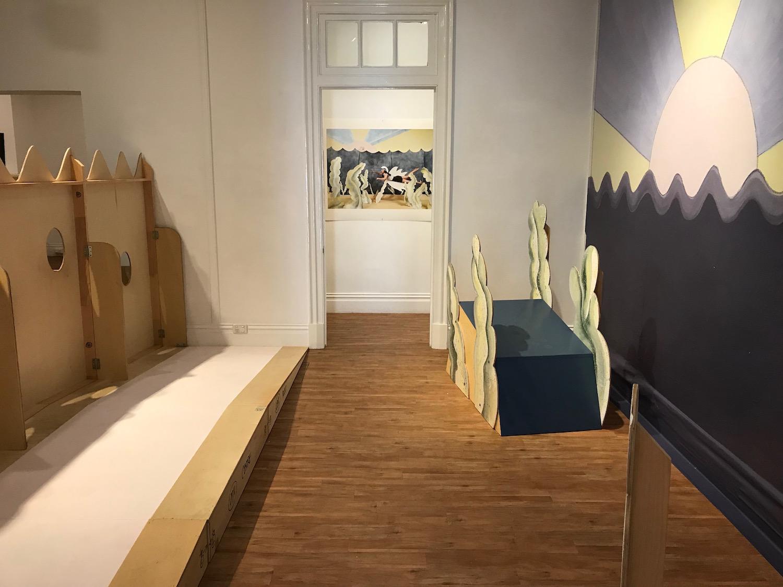 Land Down Under #7 (installation detail Bundaberg Regional Gallery), 2016, Mixed Media, Dimensions Variable, Photo: Camille Serisier