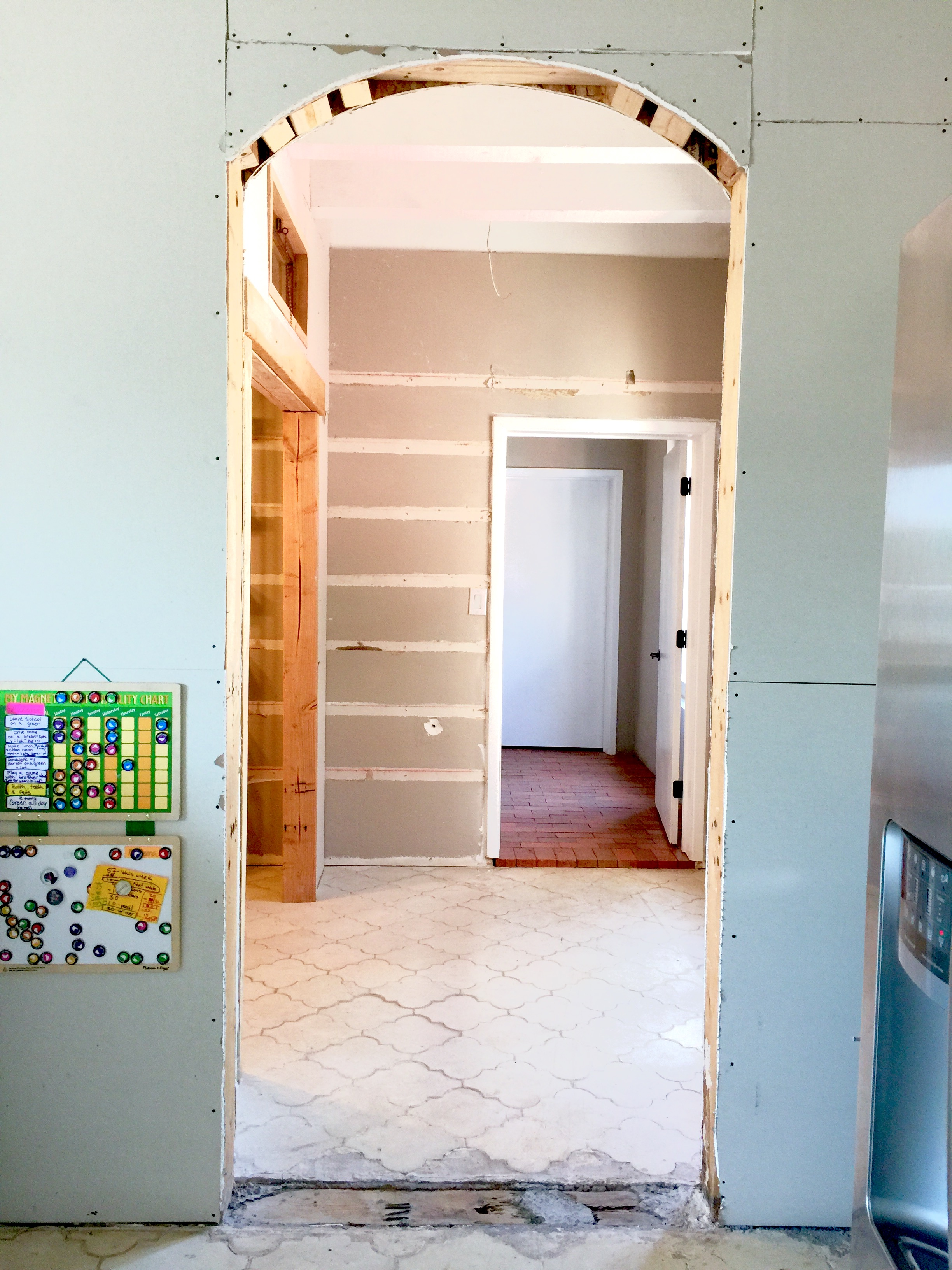 Pantry entry during construction