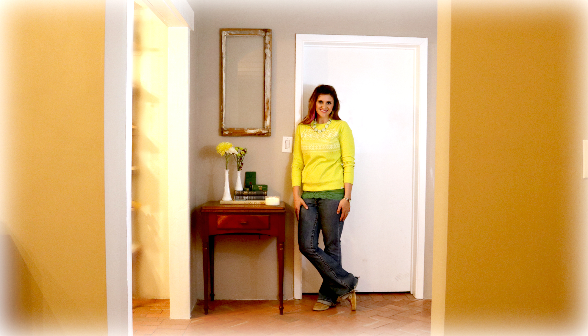 Me in my finished Pantry Entry- shelbyathome.com