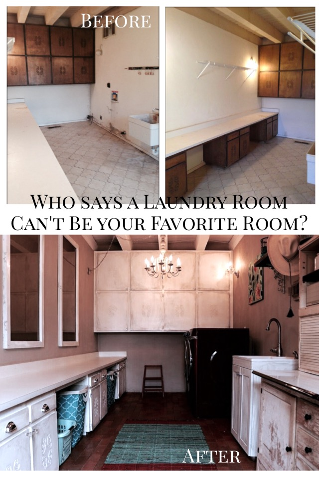 Who says a laundry room can;t be your favorite room? This is our laundry room makeover. shelbyathome.com
