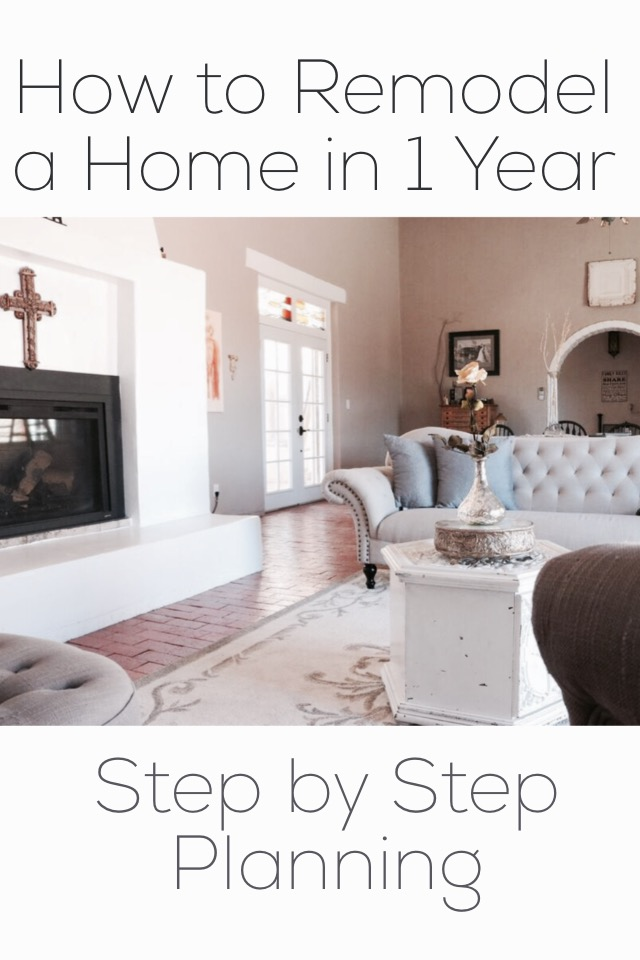 How to Remodel a Home in 1 Year- Step by Step Planner- shelbyathome.com