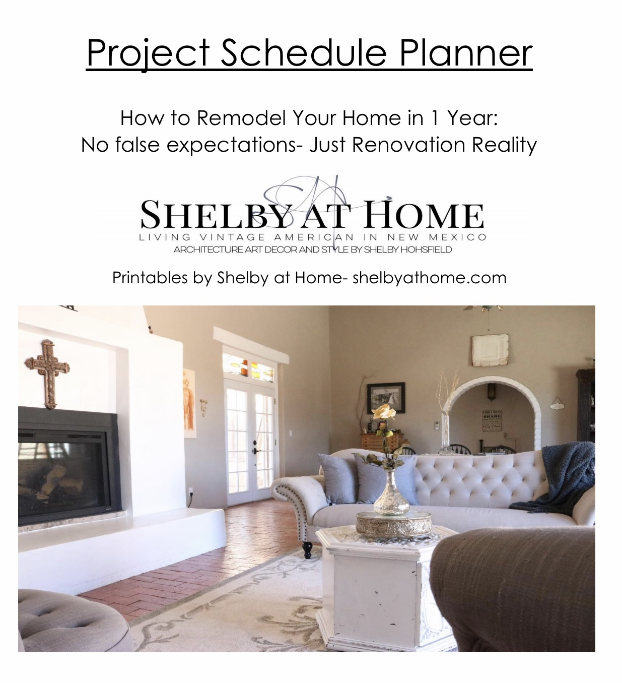 Yearly Project Schedule Planner- shelbyathome.com