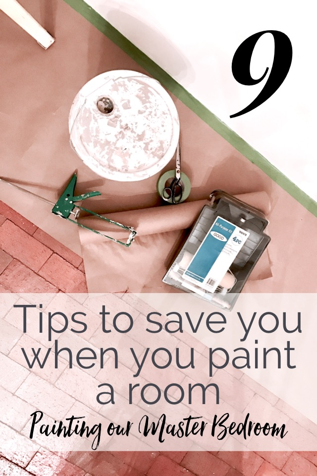 Professional Painting Tips: Painting our Master Bedroom and our weekly progress report on our remodel shelbyathome.com