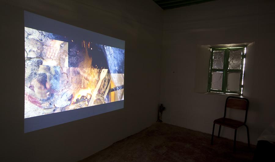 installation view, Sefrou, Morocco, September 2014