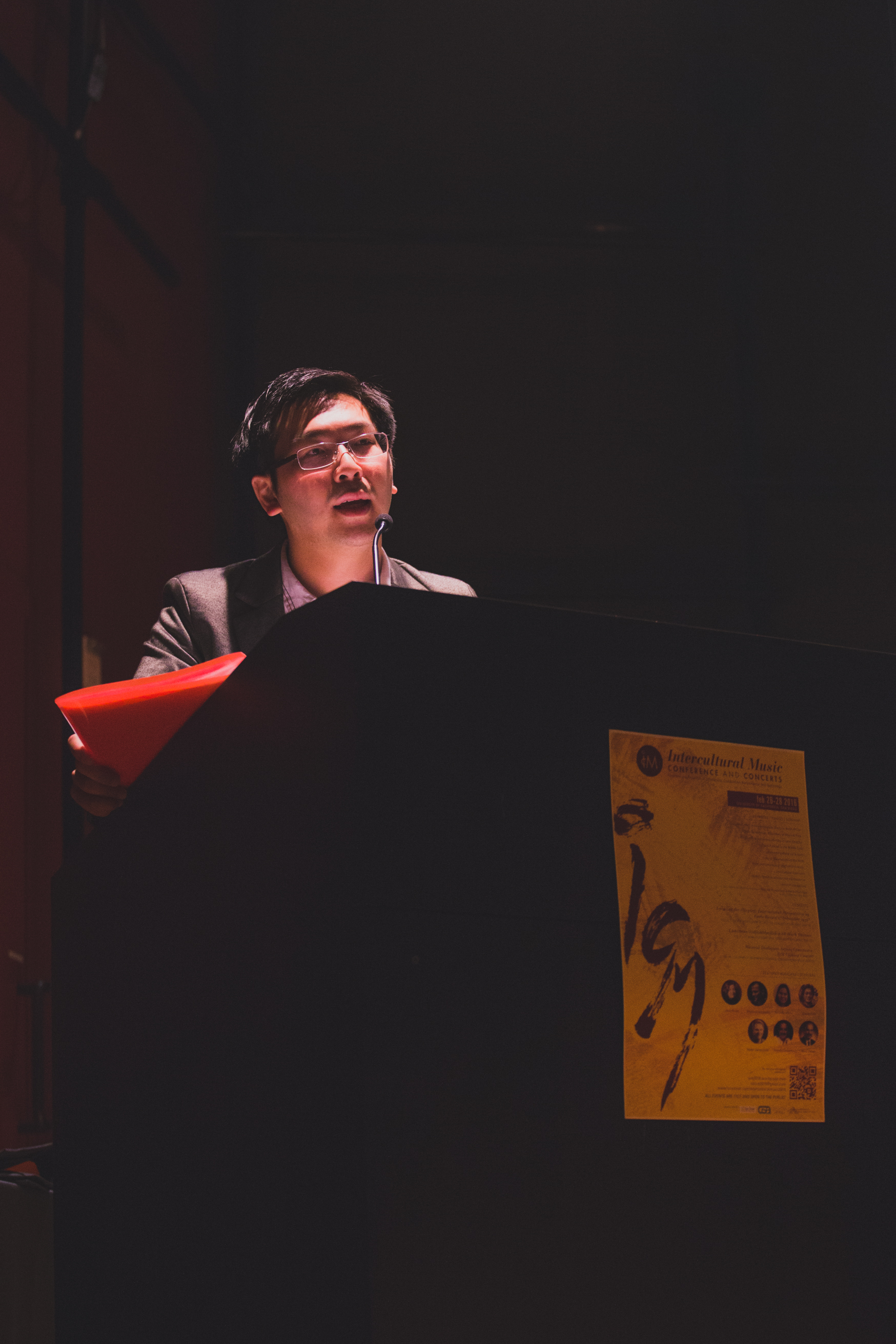 Siu Hei delivering the opening address at the Intercultural Music Conference in San Diego, California.