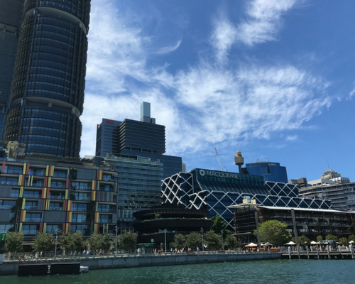 Barangaroo from Sydney Harbour aboard the ferry to Circular Quay