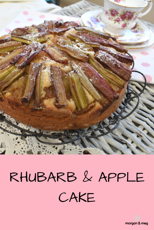 Rhubarb Apple Cake Morgan Meg
