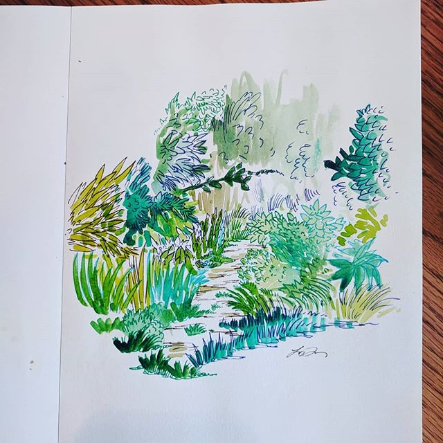 I do little #watercolor paintings at my son's forest school. They aren't all winners, but they're fun.
