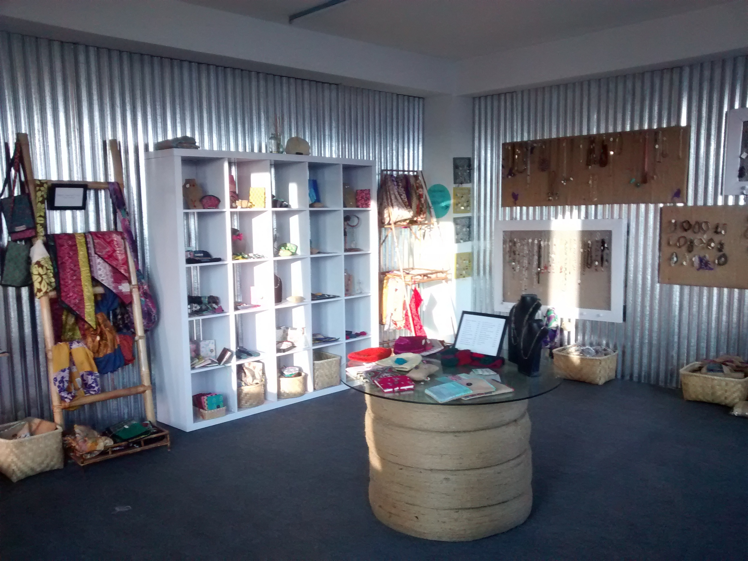 This is our showroom in Nepal. Benj built the walls in this room which is how Gwen initially got involved volunteering here.