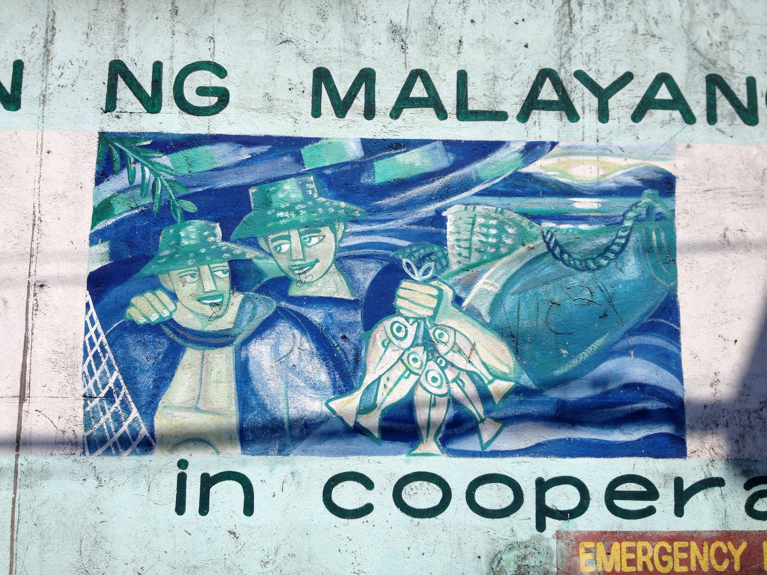 Murals in Navotas show the local connection to water.