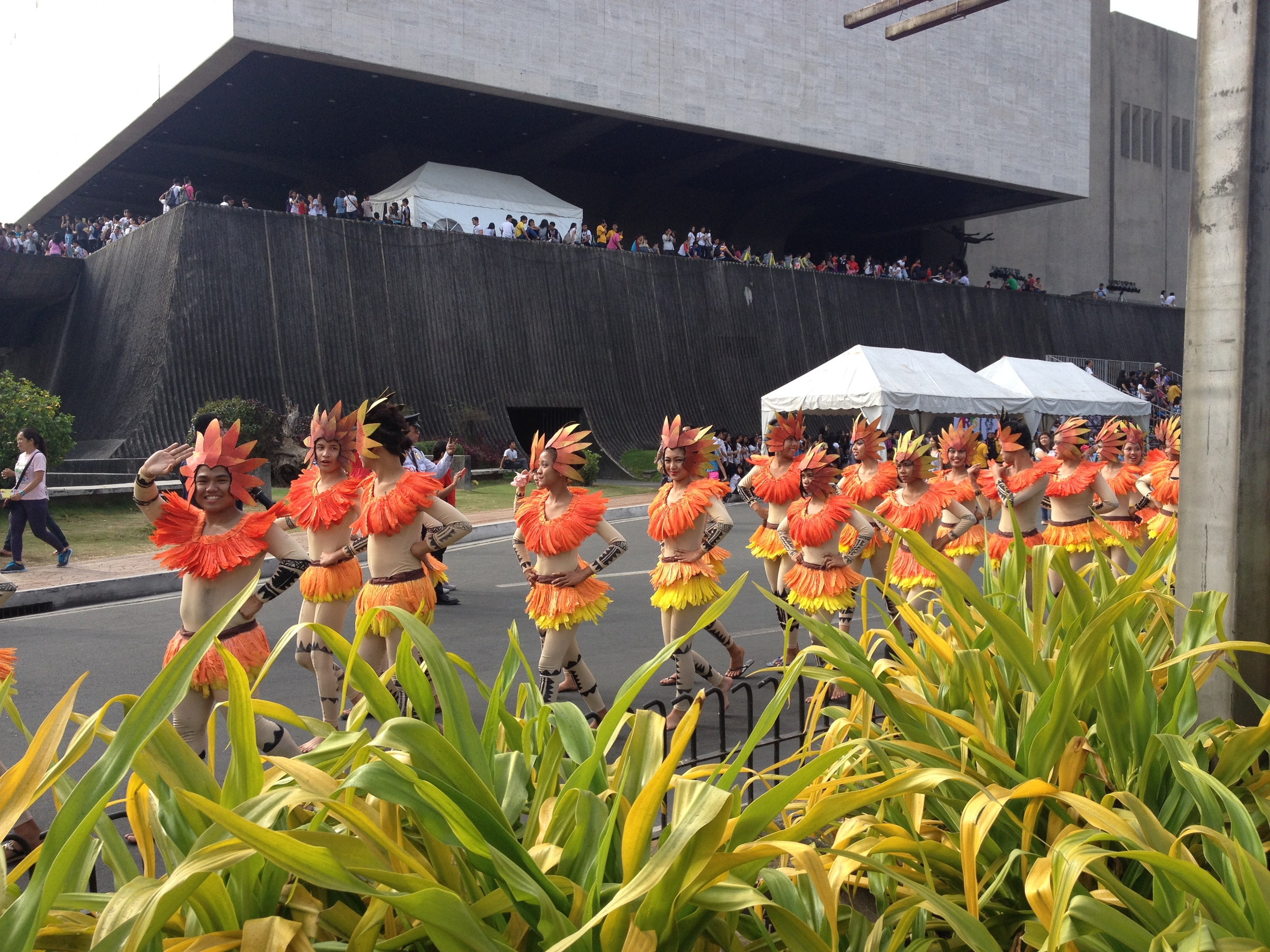 The Pasinaya Festival Parade attracted bystanders infront of the Cultural Center of the Philippines.