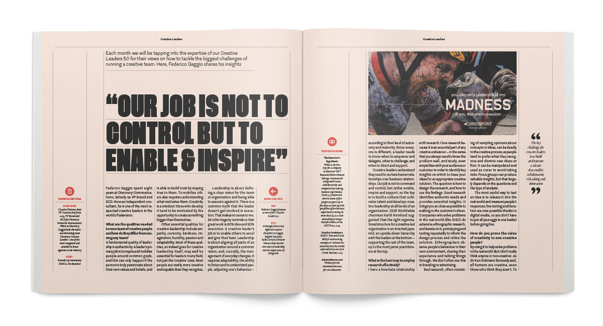 A version of this article appears on the  June 2016 issue of Creative Review