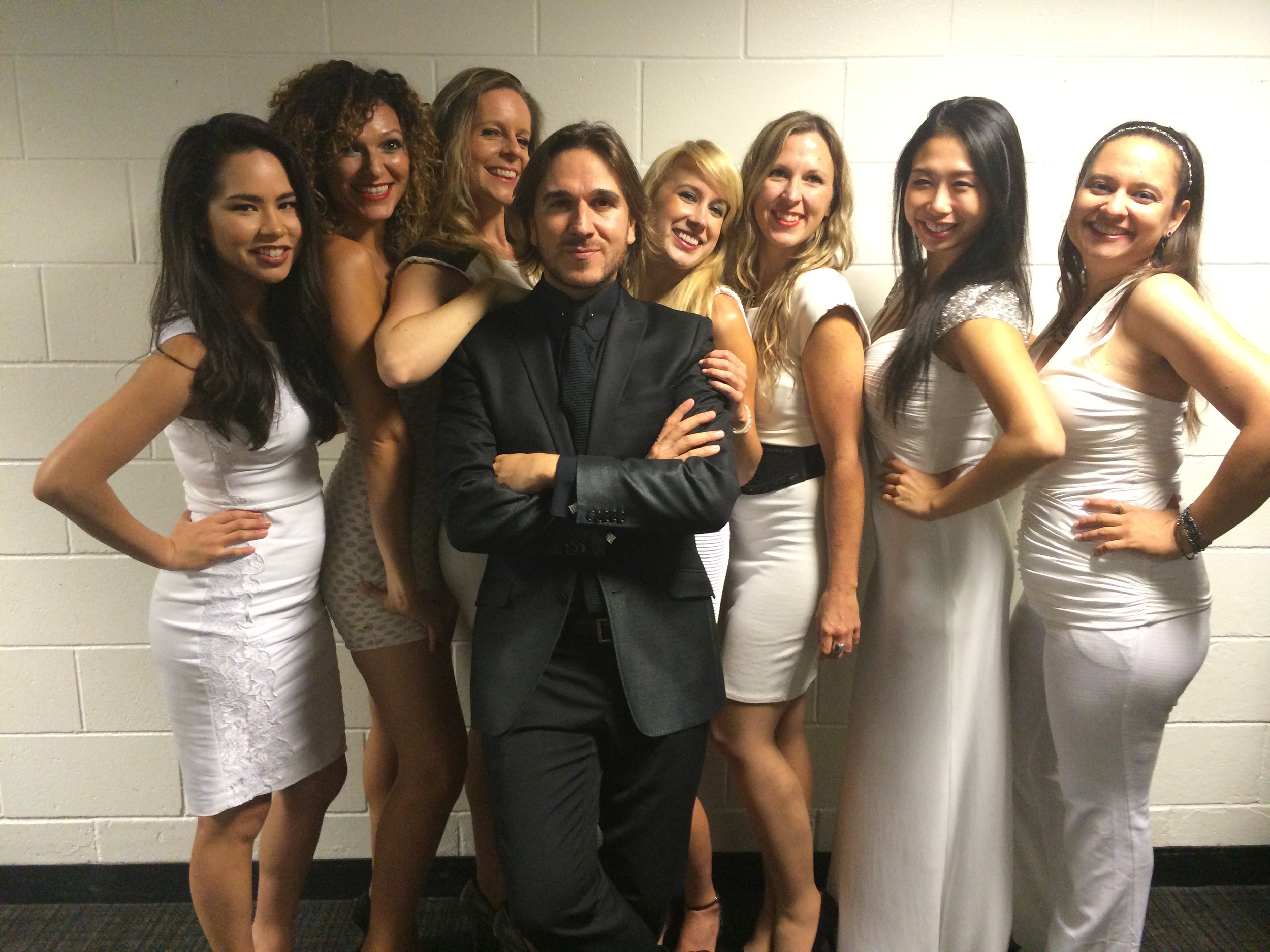 String Section for Marco Anthonio Solísbackstage with conductor Arturo Solar  September 2014