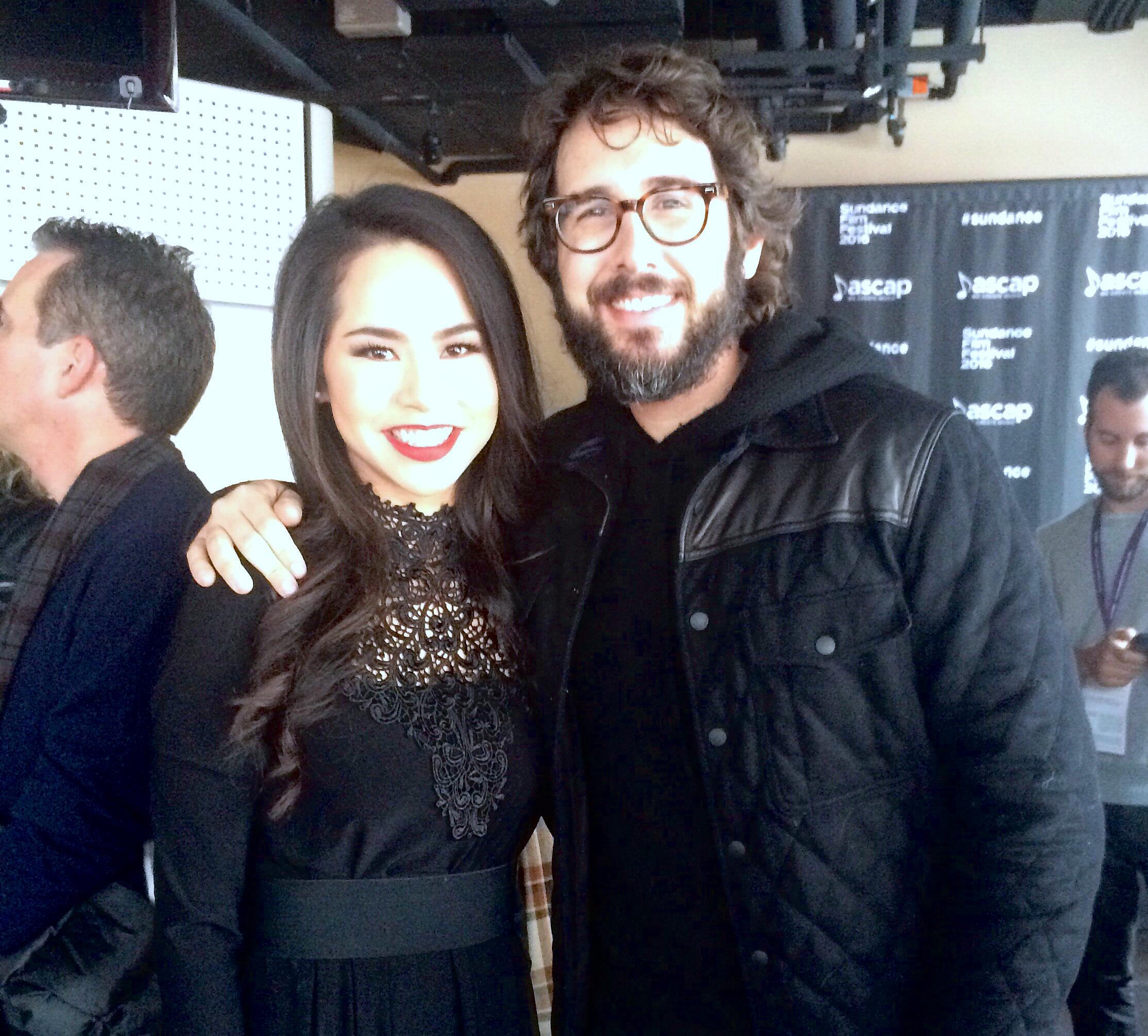 Meeting Josh Groban post-performance with Yoshiki at the Sundance Film Festival  January 2016  · Park City, UT