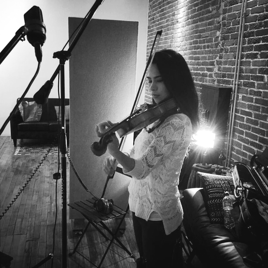"""Recording session for """"7"""" with Leo-Z  January 2016  · Downtown Los Angeles"""