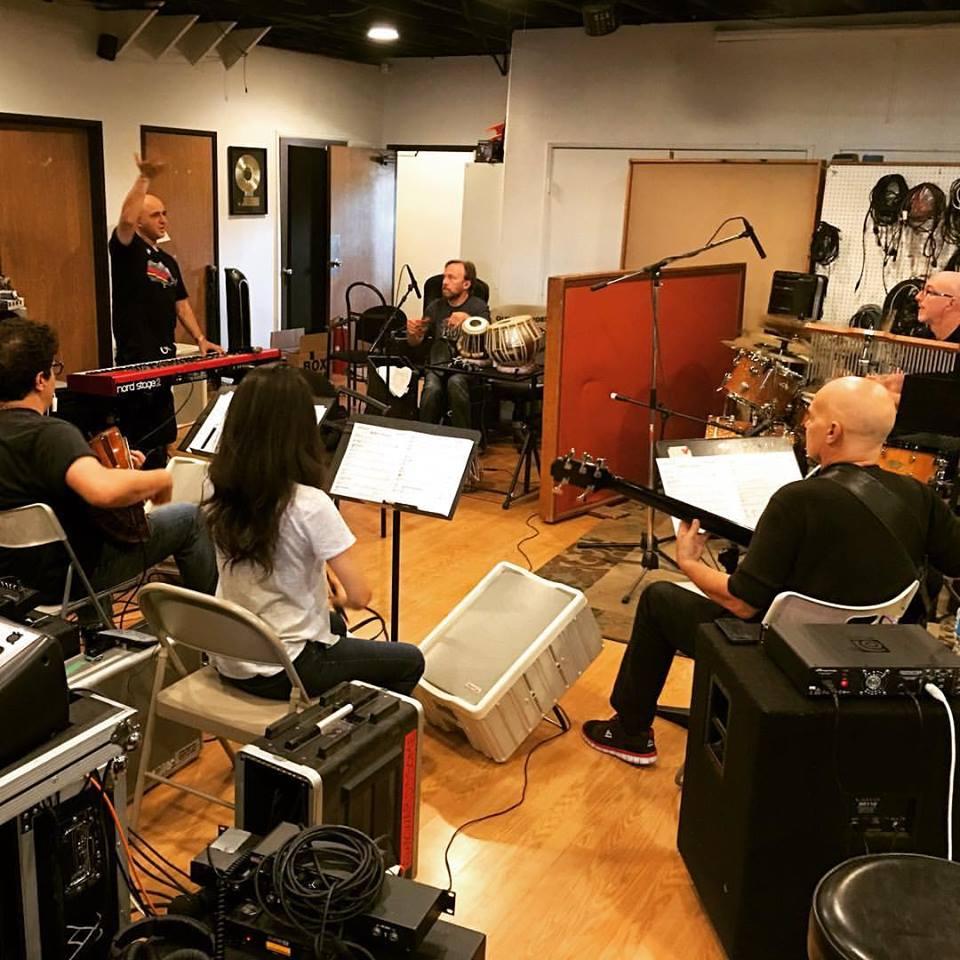 Rehearsal with Grammy winner Omar Akram  March 2016  · North Hollywood, CA