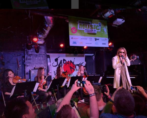 Performing with Yoshiki at SXSW   March 2016  · Austin, TX