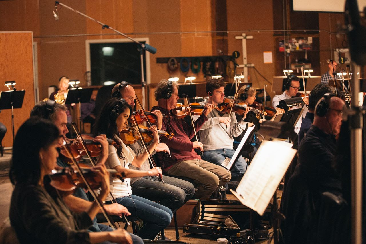 Recording session for Peter Boyer at Streisand Scoring Stage (Sony)  March 2016  · Culver City, CA  Photo by Ricky Chavez