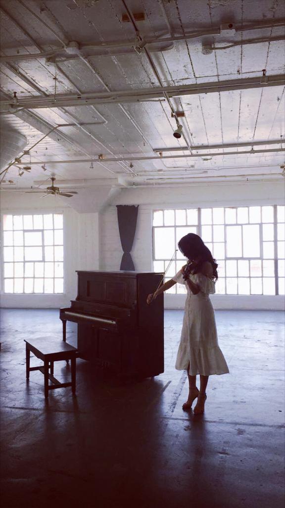Filming a music video at Astroetic Studios  June 2016  · Los Angeles, CA