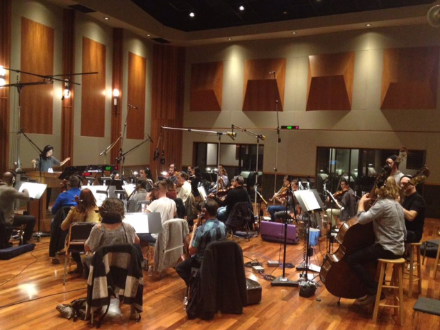 Recording session for X-Box/ ReCore  E3 Announcement Trailer at The Bridge Recording  March 2015  · Glendale, CA
