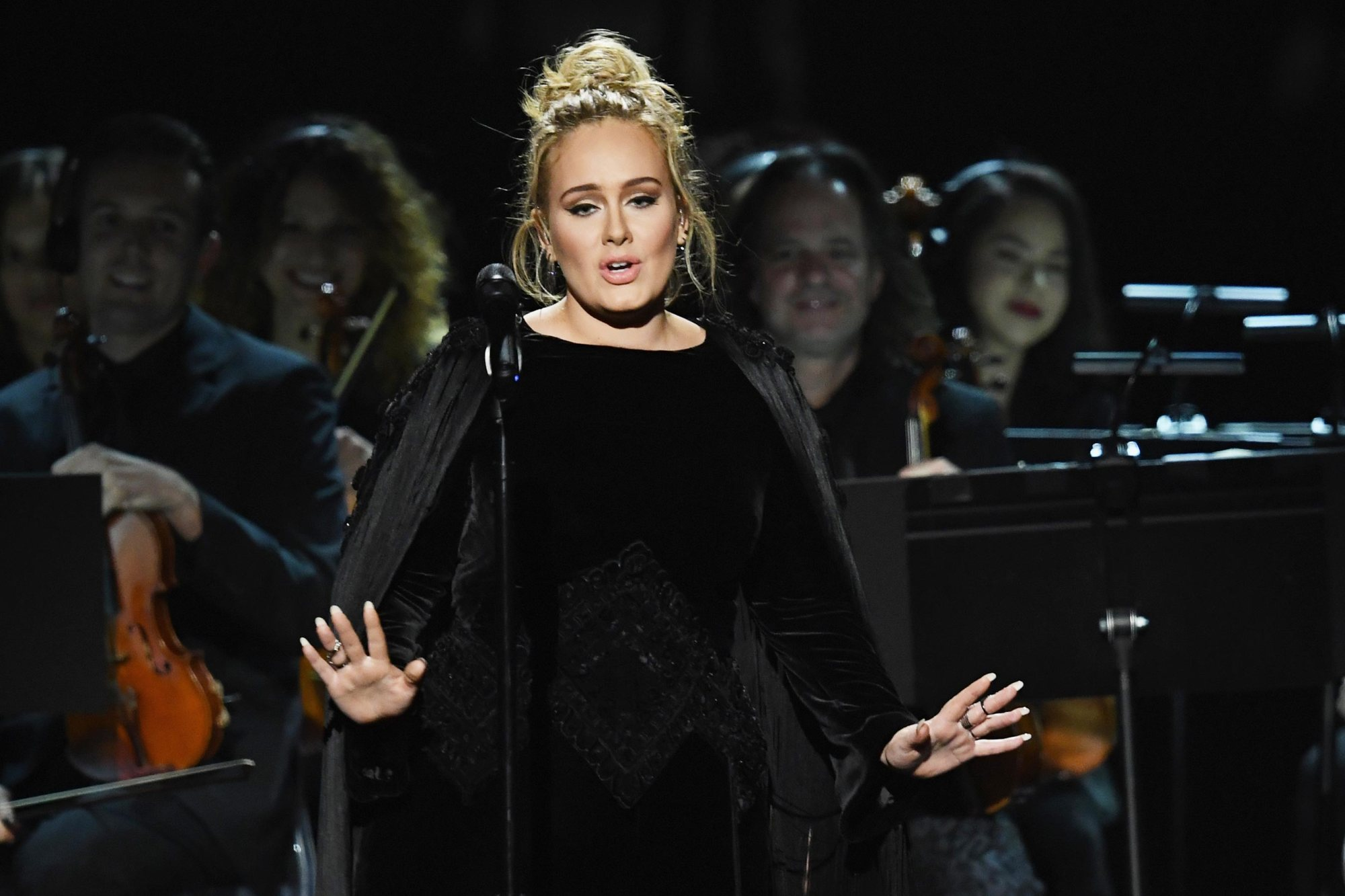 Performing with Adele at the 59th Annual Grammy Awards  February 2017  ·  Staples Center,Los Angeles, CA