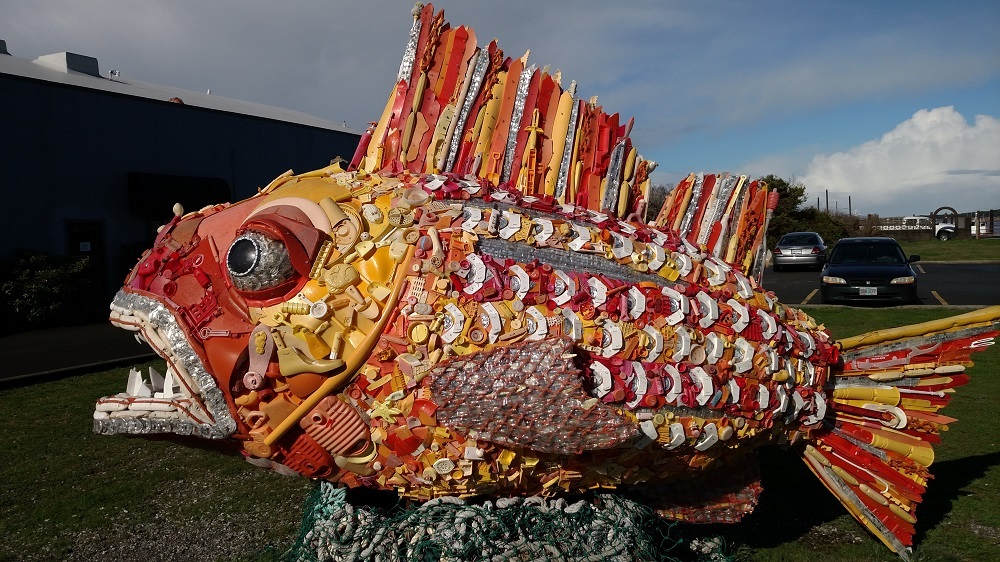 Made From Plastic Gathered On The Beach ... Amazing!