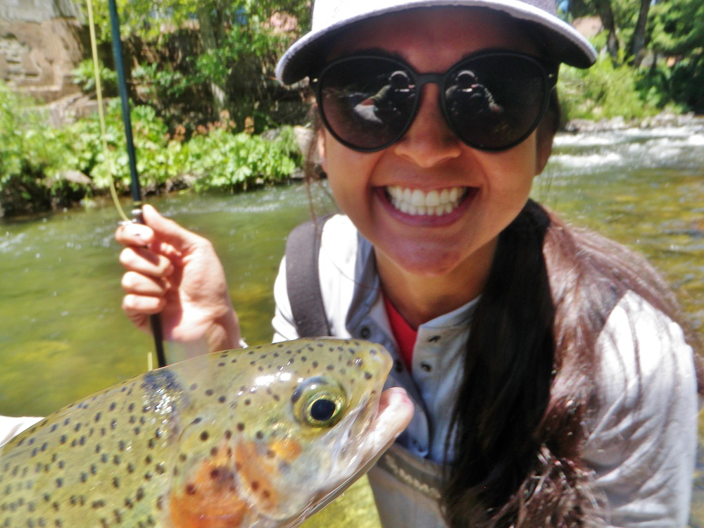 Candice First Fish On A Fly Rod