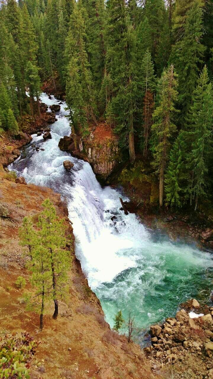 A kayaker actually shot these falls recently on the Upper McCloud and survived with a black eye.