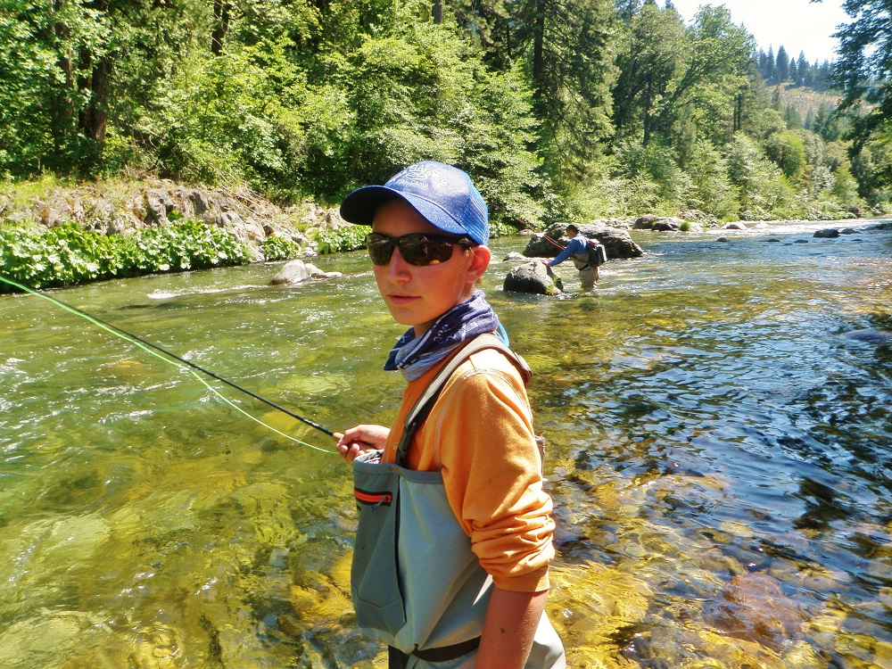 Tristan's first go at fly fishing ... landed 3 fish