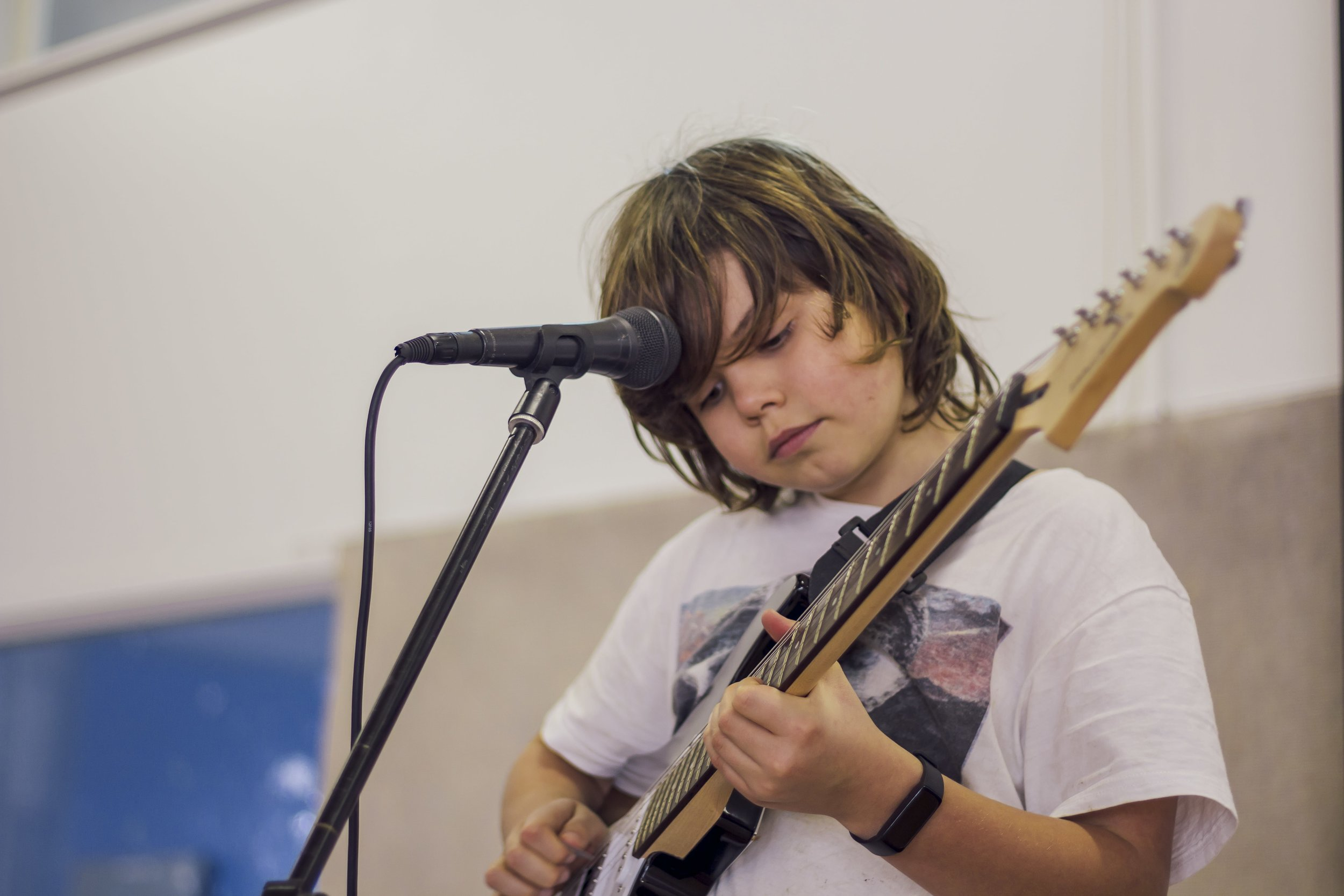 Guitar and singing student Dylan plays Purple Haze by Jimi Hendrix
