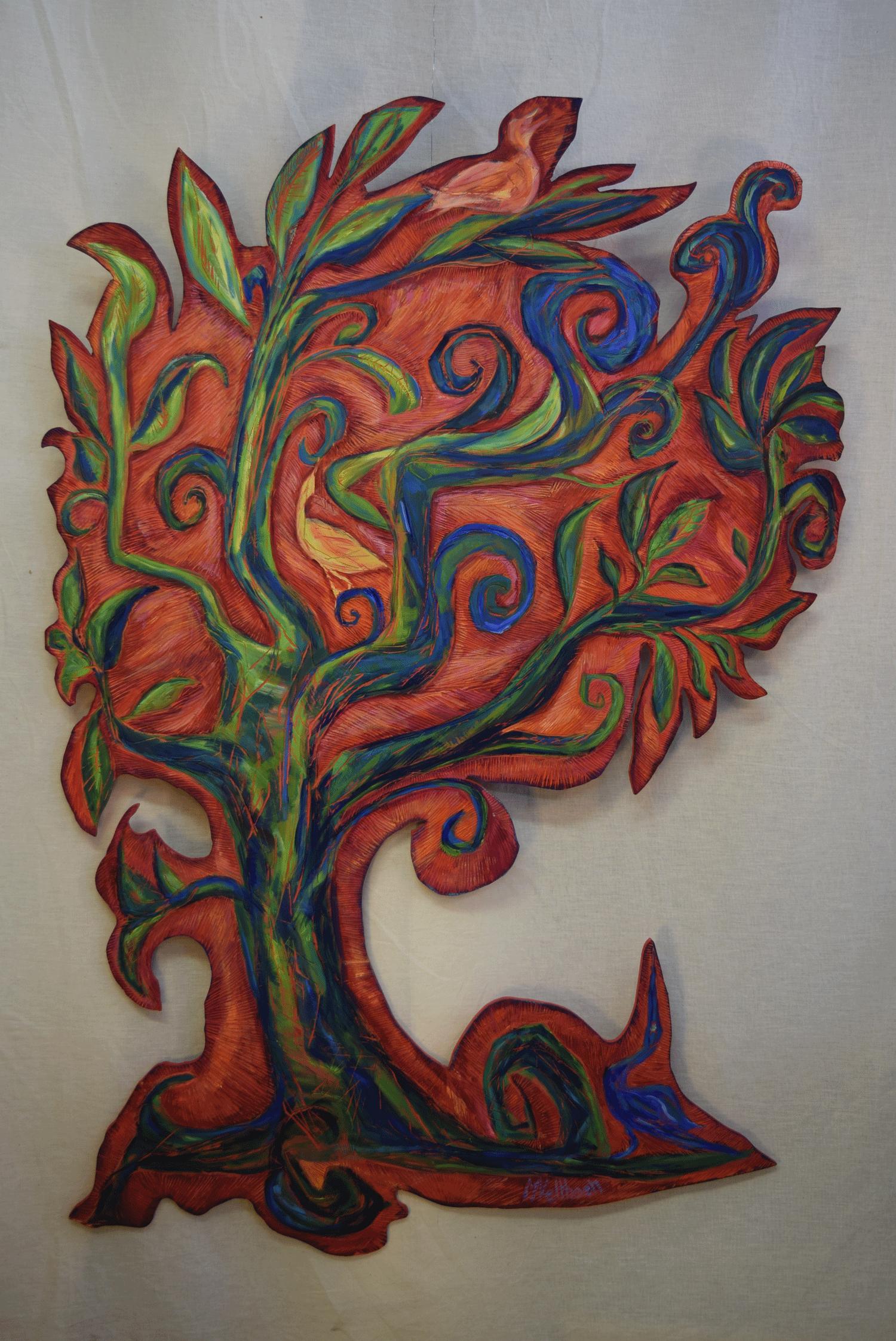 Levensboom met vogels