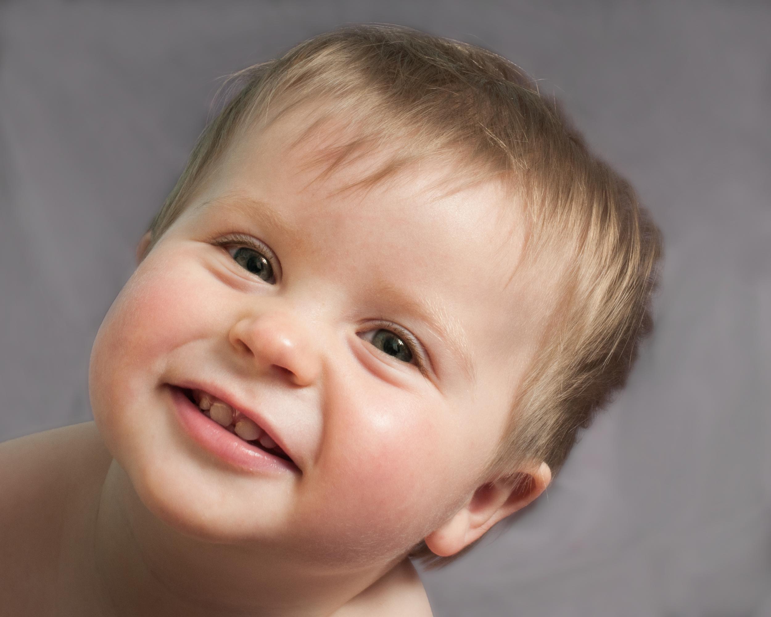 Ten Month Old Baby Portrait