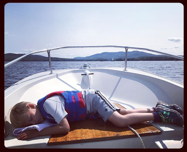 #bostonwhaler #nap during another beautiful day on #lakesunapee #newhampshire