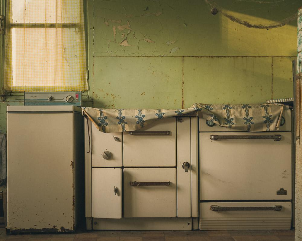 Lieux abandonnés - la maison de Daniel - la cuisinière à charbon