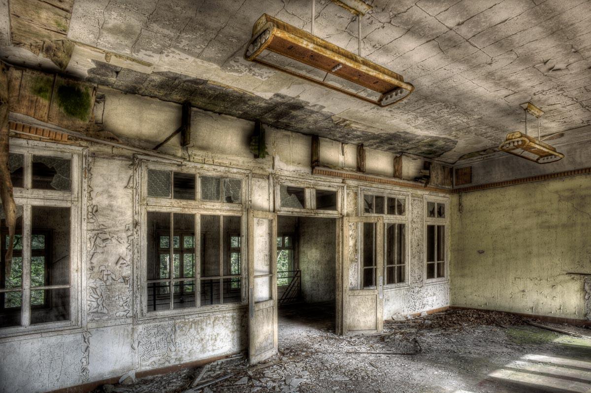 Lieux abandonnés - le préventorium Laelec - réfectoire