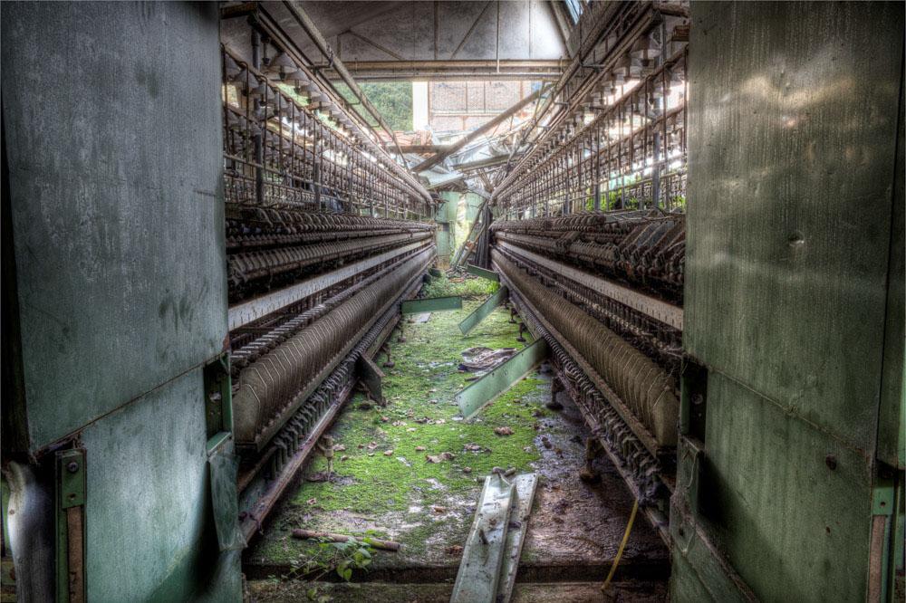 Lieux abandonnés - la filature Badin à Barentin - une perspective bouchée