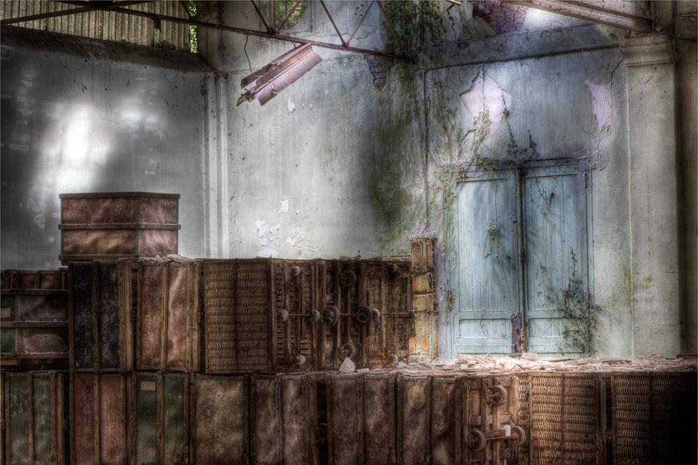 Lieux abandonnés - la filature Badin à Barentin - le hall d'expédition