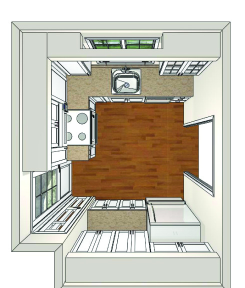SketchUp Design Kitchen